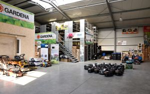 Lager und Werkstatt von K& W Gartentechnik