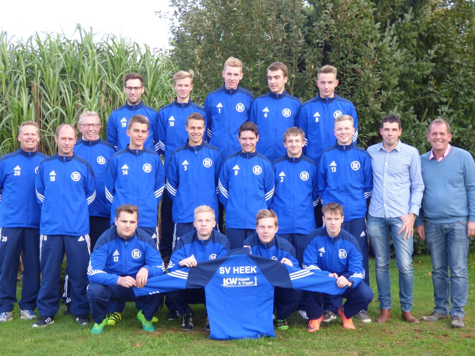 Kippelt und Wigger ist Sponsor der A-Jugend des SV Heek